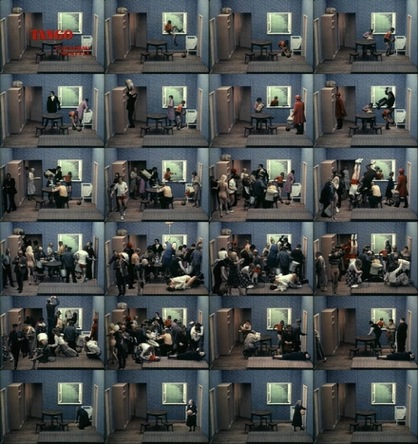 Zbigniew Rybczyński, Tango, 1980, Se-Ma-For Lodz, Poland, 35mm short film, Filmstill forrás: http://www.choicecuts.com/blog/zbig-rybczynskis-tango/
