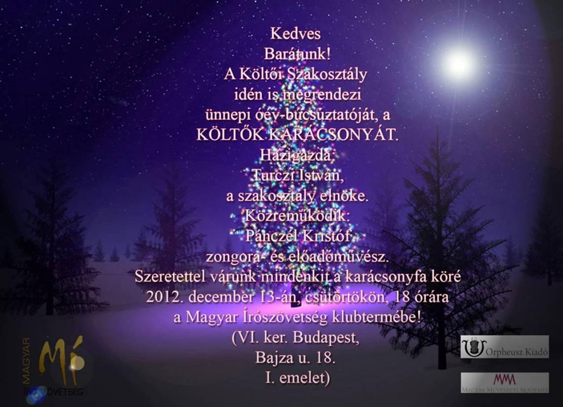 költők karácsonya - 2012