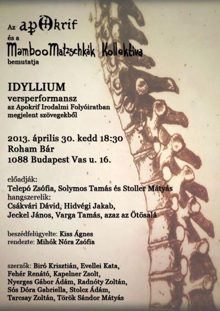Idyllium plakát 2013. ápr. 30.