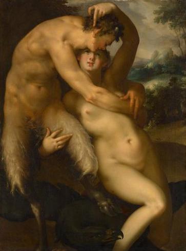 Bartholomeus Spranger: Jupiter és Antiopé, 1596 körül