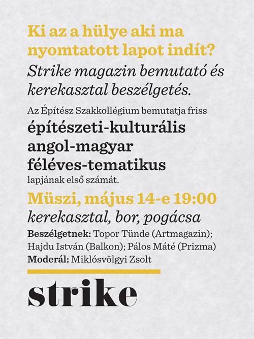 strike # 1 > lapbemutató