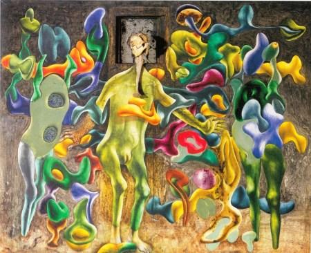 Hantaï Simon: Femelle-Miroir II, 1953, 142,5 × 173,7 cm, Párizs, Musée national d'art moderne