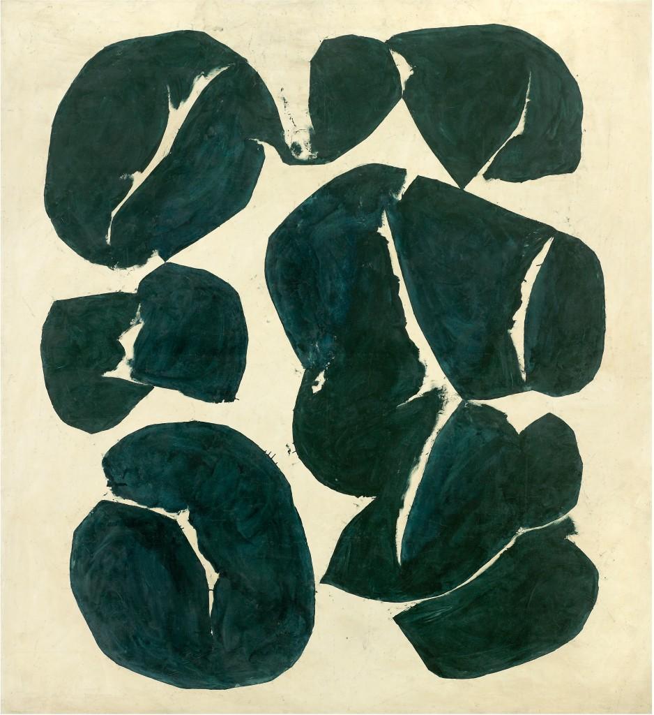 Hantaï Simon: Meun, 1968, 246 × 221 cm, Párizs, Galerie Jean Fournier