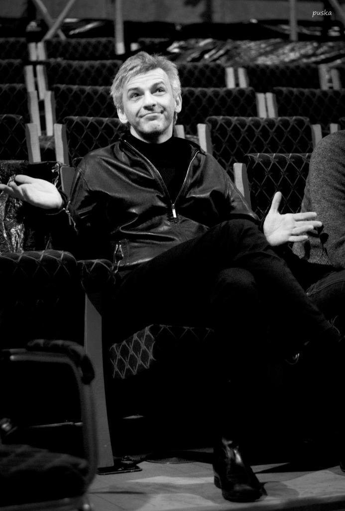 Alföldi Róbert a Hamlet c. előadás Kritikus Óráján. Fotó: Puska Judit.