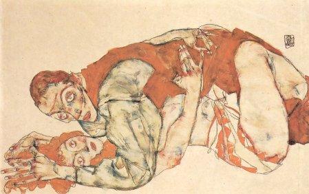 1. ábra Egon Schiele: Szeretkező pár, 1915