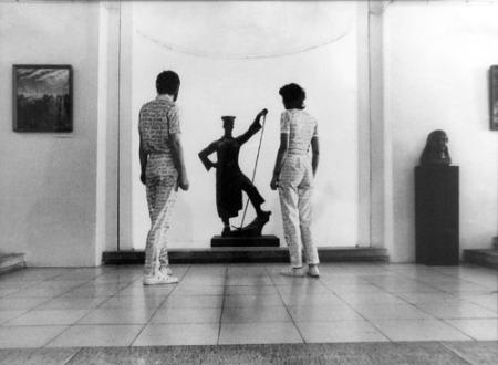 Galántai György: Szembesülés, 1981, kép forrása: http://www.mng.hu/