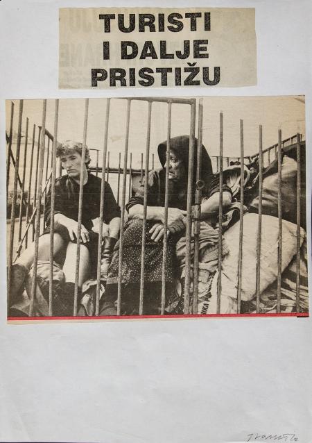 Josip Vaništa: A turisták még mindig jönnek, 1995, kollázs