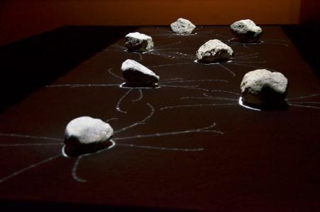 Binaura csoport: Alpha, 2011, interaktív audiovizuális installáció, fotó: Kővágó Nagy Imre © Műcsarnok