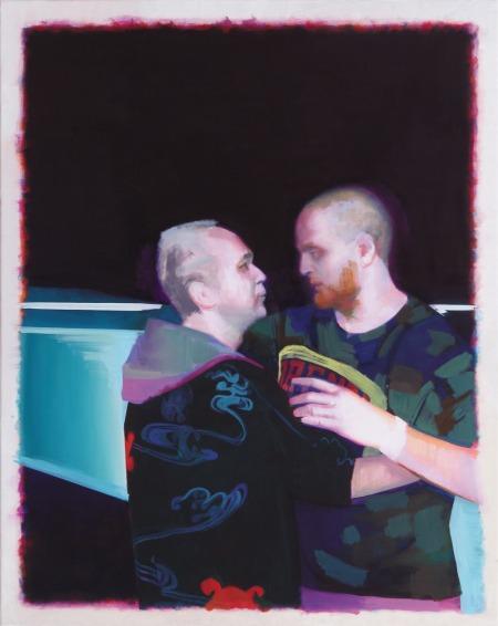 Boldog Eigil és egy szent, 2013, olaj, vászon, 100 × 80 cm, a Knoll Galéria jóvoltából, Fotó: Rosta József