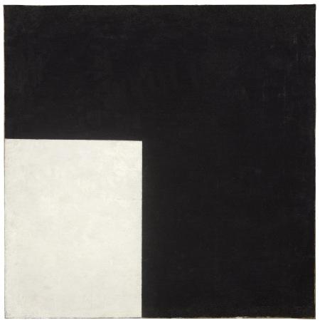 Kazimir Malevics: Fekete és fehér. Szuprematista kompozícó, 1915, olaj, vászon, 80 x 80 cm, Stockholm, Moderna Museet