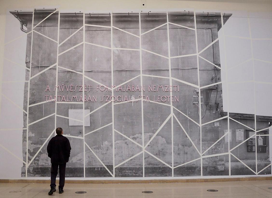 Gruppo Tökmag (Kovács Budha Tamás, Tábori András):  Forma/Tartalom, 2015  installáció, vegyes technika, fotó: Kiss Emese Sandra © Műcsarnok
