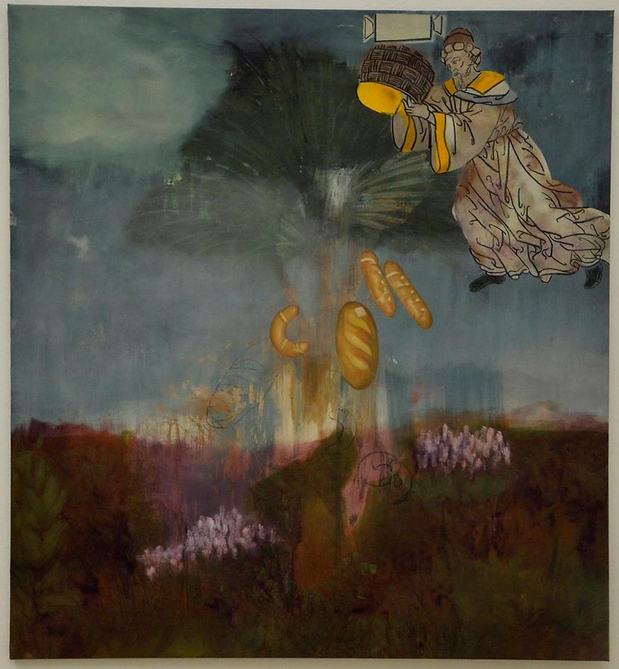 Kaliczka Patrícia: Az éhezők fája, 2014, olaj, vászon akril, szén, fotó: Kővágó Nagy Imre © Műcsarnok