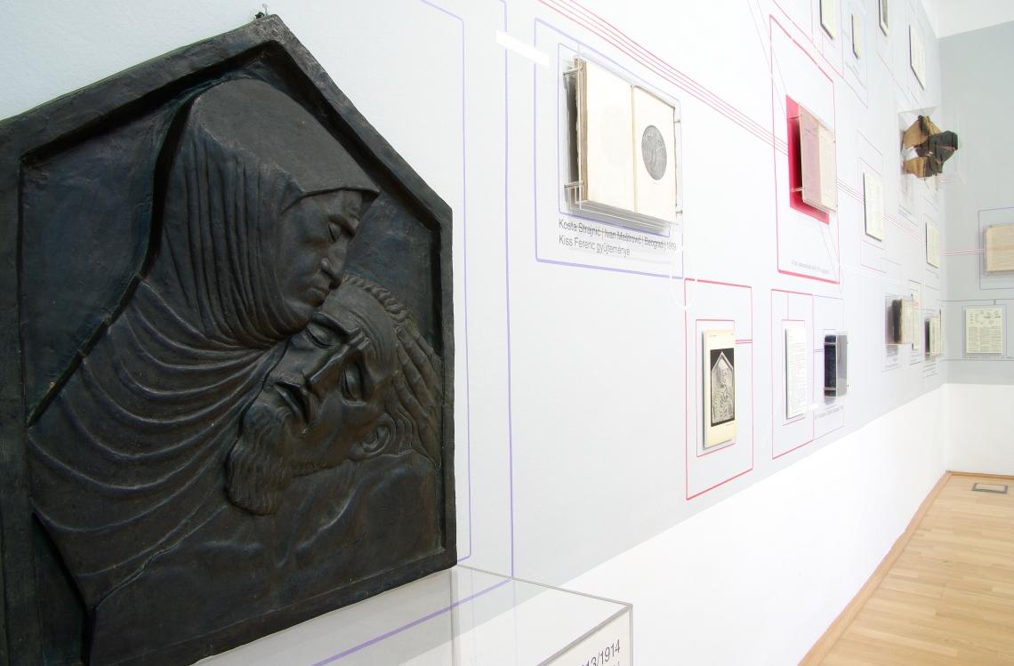 A kép szélén Ivan Meštrović reliefje, fotó: Gál Csaba.