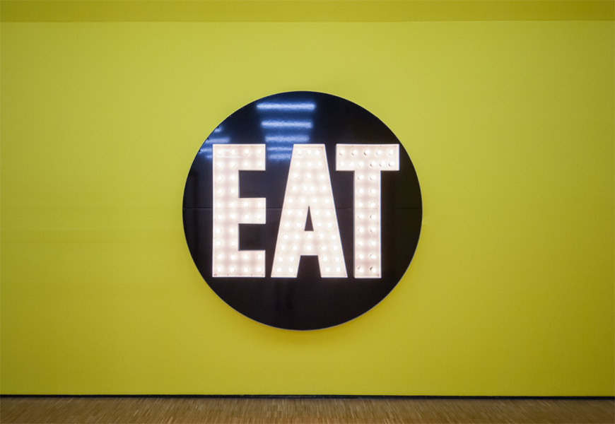 Robert Indiana: The Electric Eat, 1964–2007, kép forrása: artribune.com