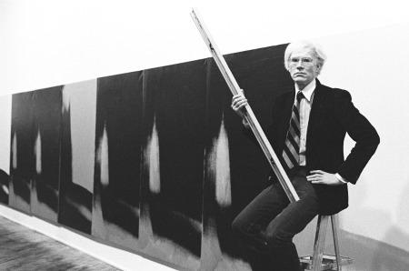 Warhol az Árnyékokkal, Heiner Friedrich Gallery, New York, 1979, fotó: Arthur Tress