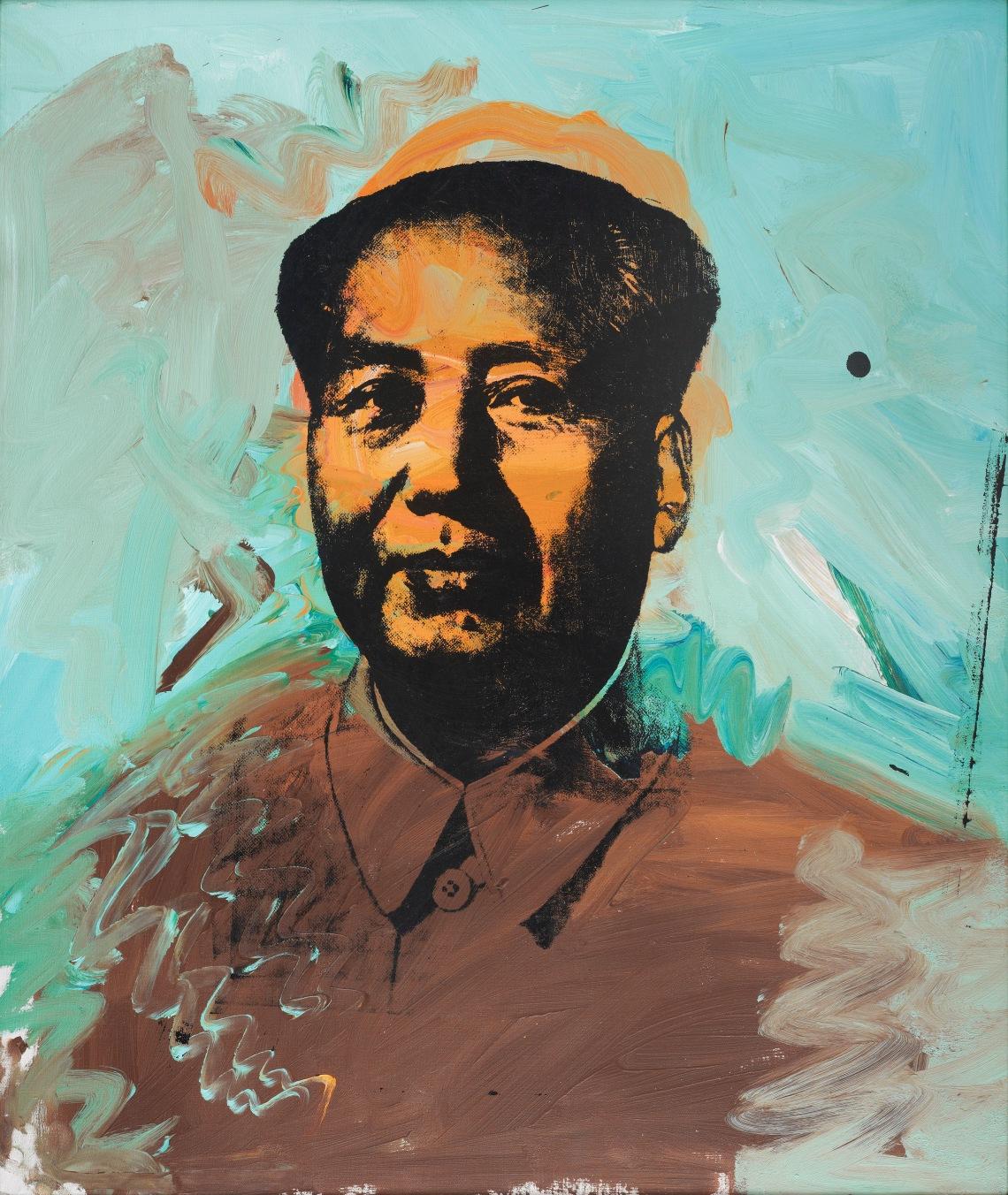 Mao, 1973, akril, vászon, szitanyomás, 127 × 107 cm, Fondation Carmignac, fotó: Thomas Hennocque