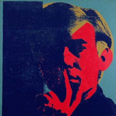 Önarckép, 1967, akril, vászon, szitanyomás, 183 × 183 cm, The Detroit Institute of Arts, kép forrása: arttattler.com/archivewarhol