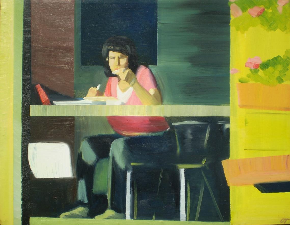 Ebéd (Napsütés), 2010, olaj, vászon, 70 × 90 cm
