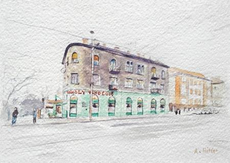 Borsos Lőrinc: Csinos akvarellek, A/6, akvarell, papír, 2015
