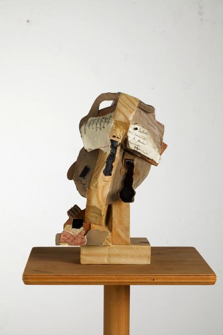 William Kentridge: Polychrome head 5, 2014, 31,5 × 20 × 11 cm