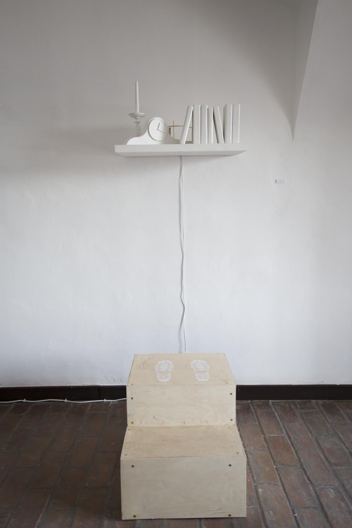 Az Add tovább... tereminstalláció részlete: Horváth Csilla munkája