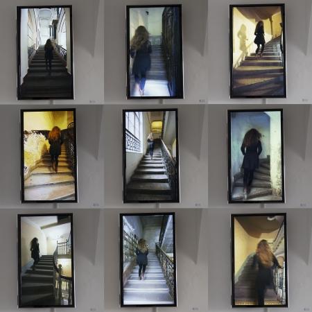 Az Add tovább... tereminstalláció részlete: Koller Margit munkája