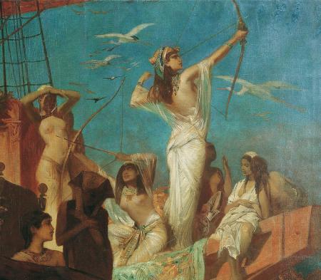 Hans Makart: Vadászat a Níluson [részlet]