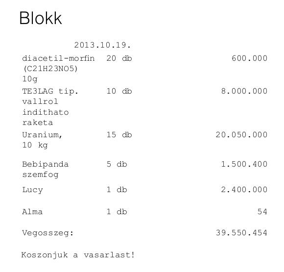 Wágner Ádám: Blokk
