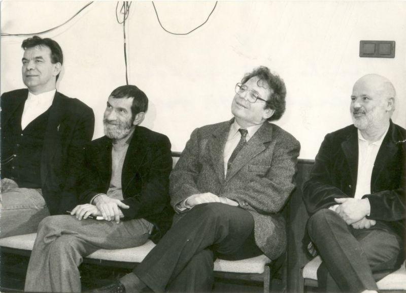 Rajk László, Petri György, Konrád György és Eörsi István (Danilo Kiš emlékest, 1991)